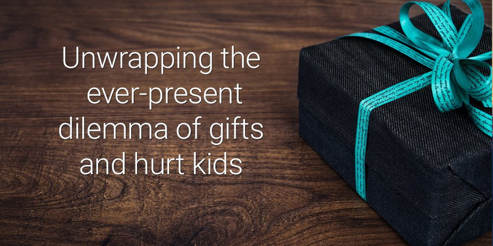 unwrapping gifts hurt kids